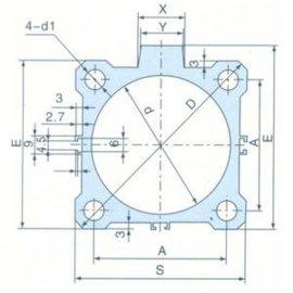 SMC铝合金薄型气缸管(A型)(J002)