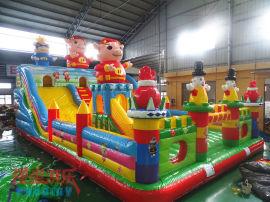 猪猪侠充气城堡 神童游乐厂家直销