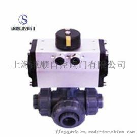 Q614/615S气动塑料三通球阀厂家促销