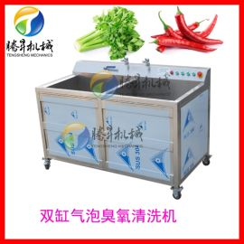 双缸蔬菜瓜果清洗机,全自动排水瓜果清洗机