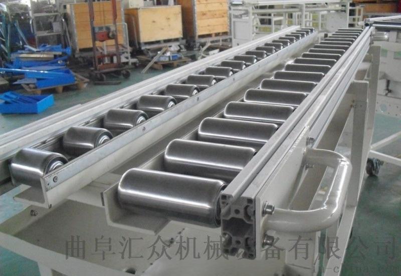 箱包流水线用滚筒输送机高承重多层分拣 倾斜输送滚筒