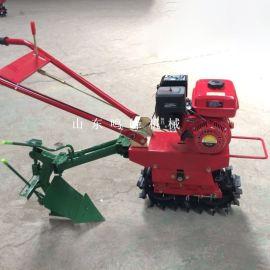 犁地施肥履带手扶微耕机,山地用小型汽油链轨微耕机