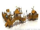 原生態幼兒園滑梯 木質滑梯組合 戶外拓展遊樂設施
