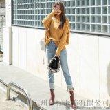 雷索思香港女装品牌折扣批发 长款毛衣尾货批发 品牌衣服尾货批发