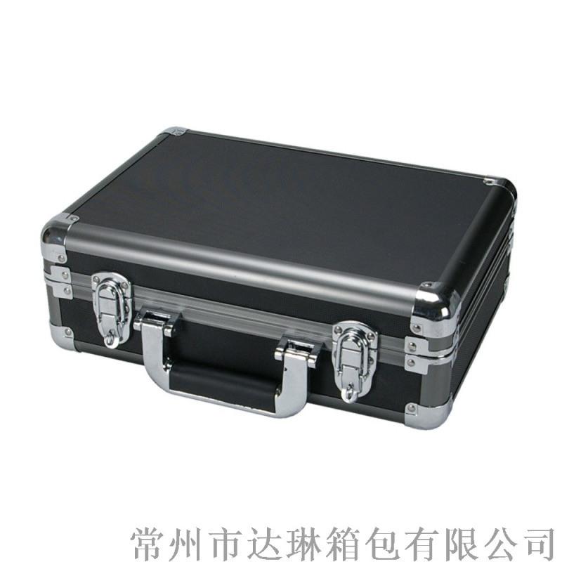 定做铝箱手提工具箱铝合金资料箱全黑文件箱