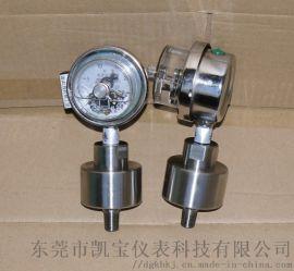 全不锈钢隔膜式耐震电接点压力表