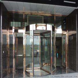 潮州不锈钢钢化玻璃旋转门,厂家安装酒店大厦旋转门