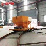 BWP50吨钢管运输地轨车 平板导轨车