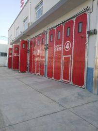 消防车库折叠门厂房折叠门不锈钢折叠门工业门