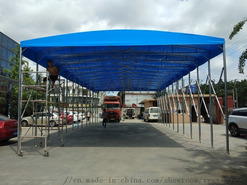 綿陽大型戶外遮陽棚 雨棚 伸縮棚-鑫永泰定製