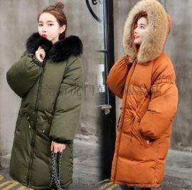女士棉衣女装棉服外套韩版棉衣中长款棉服处理