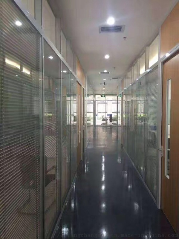 玻璃隔断墙室内隔音铝合金双层钢化玻璃百叶隔断