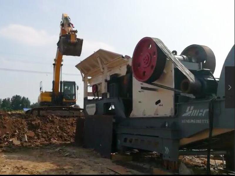 混凝土移动破碎设备石料破碎站 建筑垃圾破碎站 移动破碎
