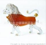 狮子造型玻璃酒瓶动物金毛狮王醒酒器