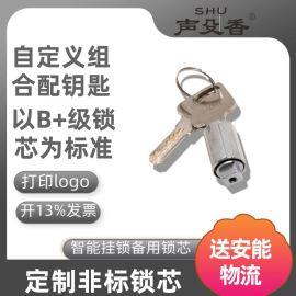 定制logo鋅合金鎖芯, 訂做智慧鎖備用鎖芯