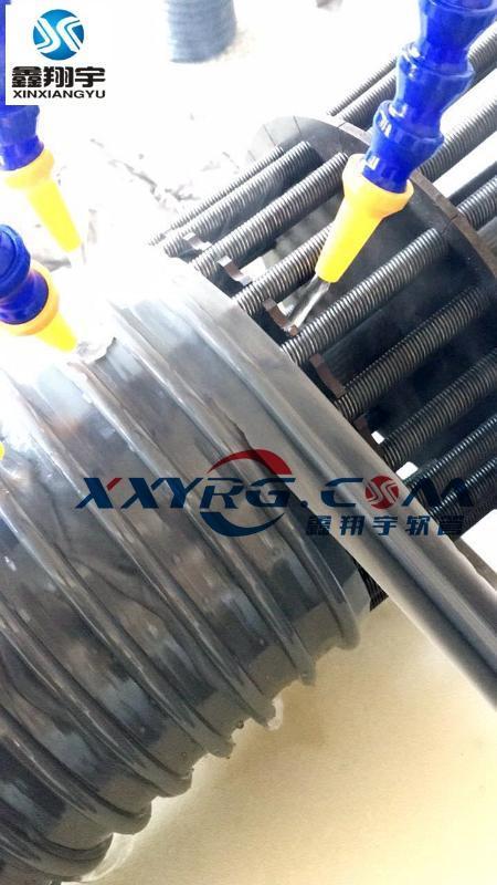 灰色PVC圆骨塑筋增强软管/牛筋管/塑料软管/通风吸尘排水管180
