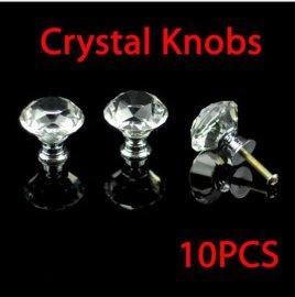 厂家直销水晶拉手抽屉床头拉手钻石把手