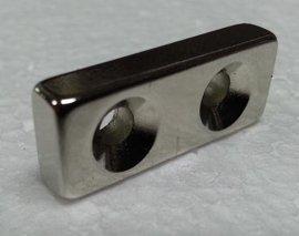 方形磁铁 双沉头孔磁铁 打孔强力磁铁加工