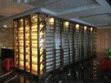 定做黑鈦不鏽鋼紅酒櫃拉絲面酒櫃餐廳不鏽鋼酒架定製