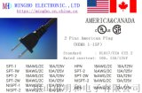 UL認證、CSA認證    美規兩插電源線