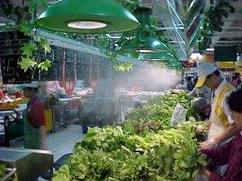 商场超市蔬菜水果喷雾加湿保鲜微雾机