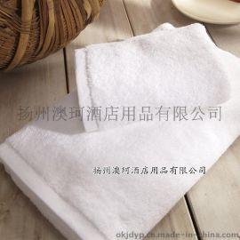 酒店宾馆客房卫浴用品/纯棉白色120g 毛巾定做批发特价