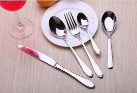 定制LOGO 不锈钢四件套/刀叉勺 外贸不锈钢刀叉勺