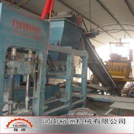 河南裕洲免烧砖机设备|专业生产全自动垫块砖机|液压水泥空心砖砖机