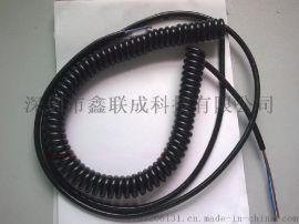高柔性螺旋电缆 PU弹簧线现货库存