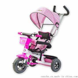 灿成儿童三轮车宝宝三轮车脚踏车充气轮婴儿三轮车手推车 T018C