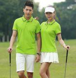 時尚高端翻領短袖男女t恤情侶裝休閒夏裝大碼高爾夫運動polo衫