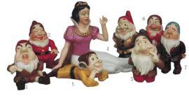 厂家生产定做玻璃钢卡通雕塑童话雕像白雪公主七个小矮人米老鼠