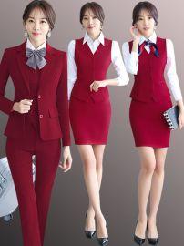 职业装女2019新款女士小西装套装正装酒店领班美容师工作服姐