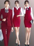 職業裝女2019新款女士小西裝套裝正裝酒店領班美容師工作服姐