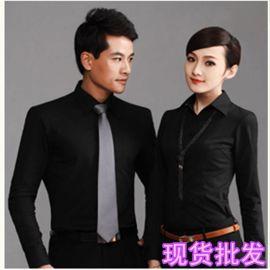 春夏职业装男式装新款修身长袖衬衫韩版纯色衬衣