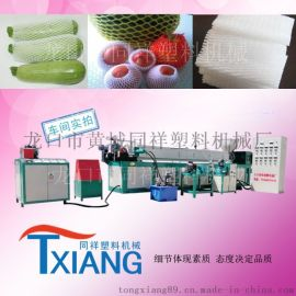 epe水果网套机,蔬菜发泡网套生产线