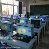 液晶屏翻转电脑桌 电教室培训桌多媒体升降电脑桌