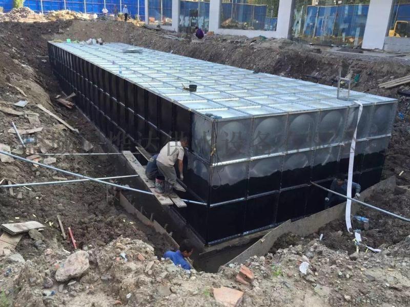 抗浮式地埋一体化消防泵站