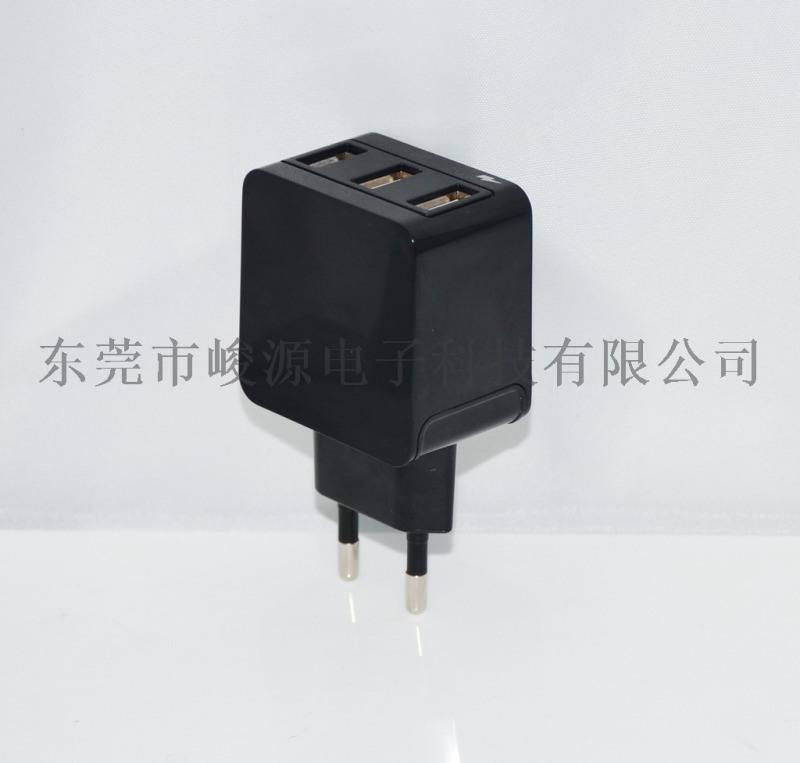 5V3.1A歐規/美規3USB充電器