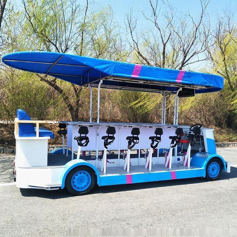15人电动观光车,观光自行车,观光车