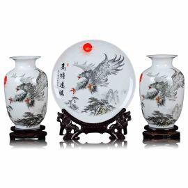 陶瓷花瓶三件套 家居时尚饰品花瓶摆件厂家