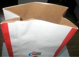 烟台厂家定做加工食品级纸袋25公斤装 牛皮纸复合袋