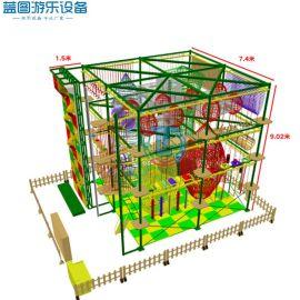 室內外兒童拓展設備 廠家定做 繩網攀爬探險項目