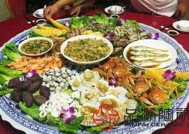 传统手工青花瓷海鲜大盘 一米口径组合装菜大盘子制作的工厂