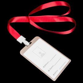 号工作牌卡套胸卡厂牌工作证金属铝合金卡套挂绳定制