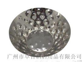 不鏽鋼錐形錘印水果盤 點心盤 壽司 果仁 小食 冷菜盤酒店家居