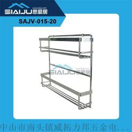 厂家直销 双层厨房置物架 可加工定制 壁挂式调味收纳架厨房挂件