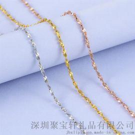 s925纯银满天星日韩银饰品 锁骨链项链时尚银链子 珠宝礼品