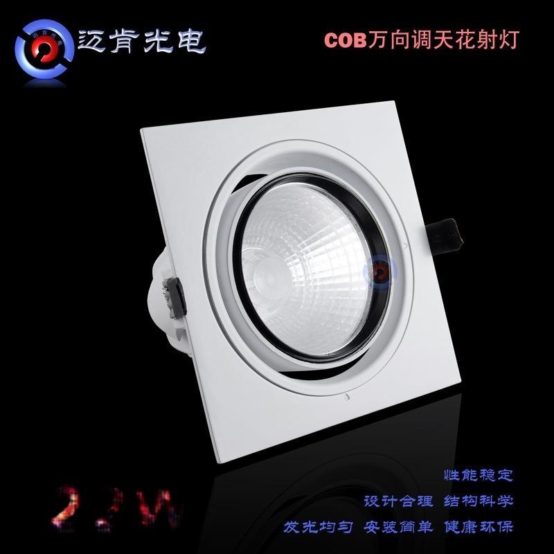 LED天花射燈 熱款室內照明燈具COB下照式射燈 商業照明筒燈SDEQ22