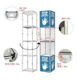展会折叠铝合金落地展示柜便携样品展示架精品陈列架商品置物架